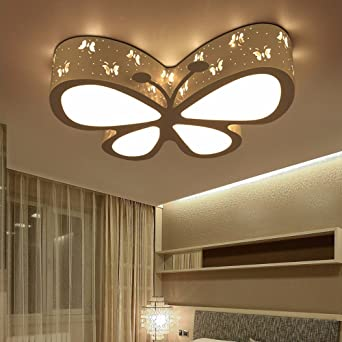 XHOPOS HOME Deckenleuchte Moderne Einfache Bügeleisen Deckenleuchte  Schmetterling Zimmer Deckenlampe Für Kinder Schlafzimmer Leuchten LED  Beleuchtung