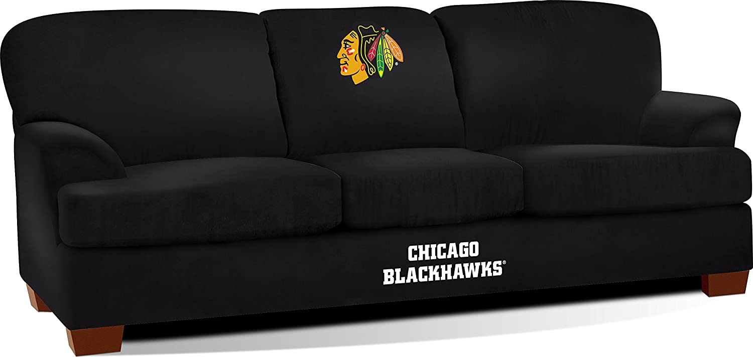 amazoncom imperial officially licensed nhl furniture first team microfiber sofacouch boston bruins sports u0026 outdoors