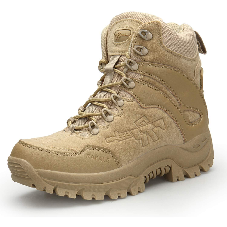 LILY999 Hommes Bottes de Randonné e Tactiques Militaires de Combat Bottes Chaussures de Trekking exté rieures Respirantes Antidé rapant