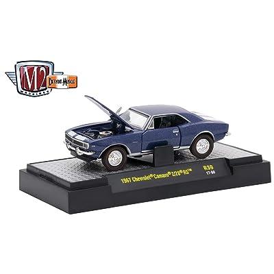 M2 Machines 1967 Chevrolet Camaro Z/28 RS (Deepwater Blue Metallic) - Detroit Muscle Release 39 2020 Castline Premium Edition 1:64 Scale Die-Cast Vehicle (R39 17-50): Toys & Games