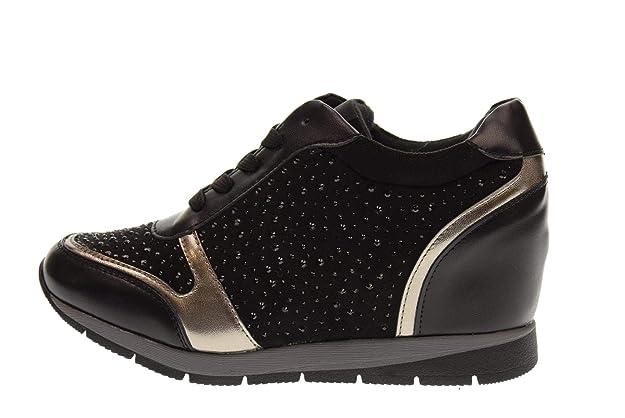a85e87e1d05fc XTI Zapatos Mujer Zapatillas con cuña 48513 Negro  Amazon.es  Zapatos y  complementos