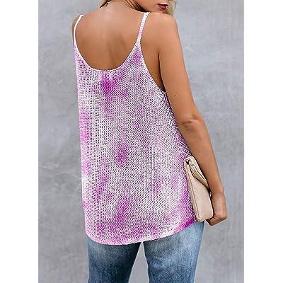 PLMOKEN Women Summer Strappy Cami Knit Tank Tops Scoop Neck Casual Sleeveless Blouse