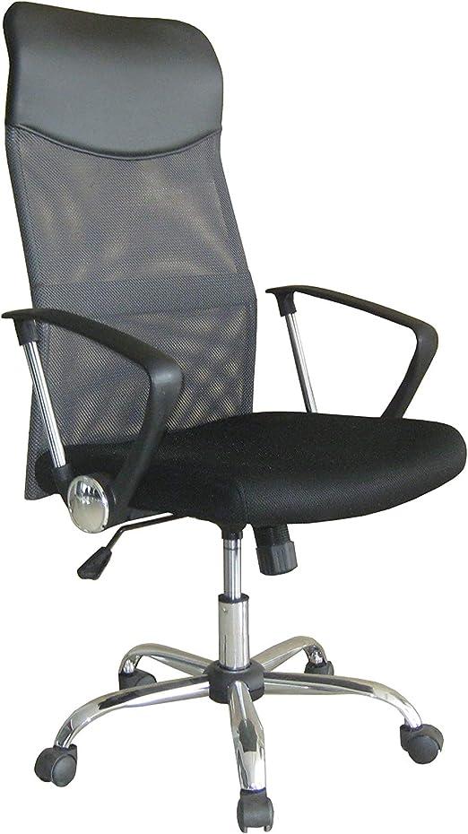 Drehstuhl Bürostuhl Chefsessel Schreibtischstuhl Schwarz Netz Stoff ARIA HIGH