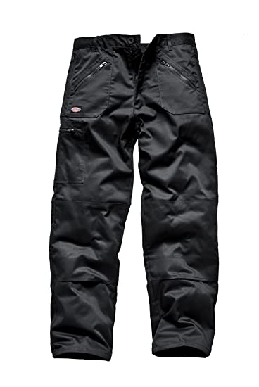 Dickies Redhawk Mens Action Trousers Work Pant Workwear Black FREE KNEEPADS