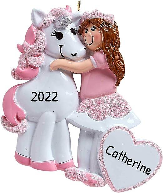 Rainbow Unicorn 2020 Christmas Ornament Amazon.com: Personalized a Princess and her Unicorn Christmas Tree
