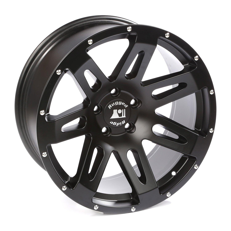 Rugged Ridge 15306.01 XHD Black Satin Wheel for Select Jeep Wrangler JK Models (20x9''/5''x5'')