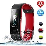 Letsfit Fitness Tracker Color Screen, Heart Rate Monitor Watch, IP68 Waterproof Activity Tracker, Sleep Monitor, Step Counter, Smart Sports Watch for Kids Women Men