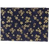 Perfeclan 2x1.5m コットン ブロンズ布 生地 和柄 和風 縫製工芸品 ホームテキスタイル カーテン 全5種 - フラワー, 2 x 1.5m