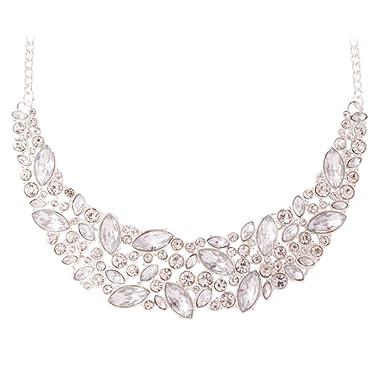JANE STONE Fashion Statement Necklace Bling Rhinestone Choker Collar Chunky Jewelry