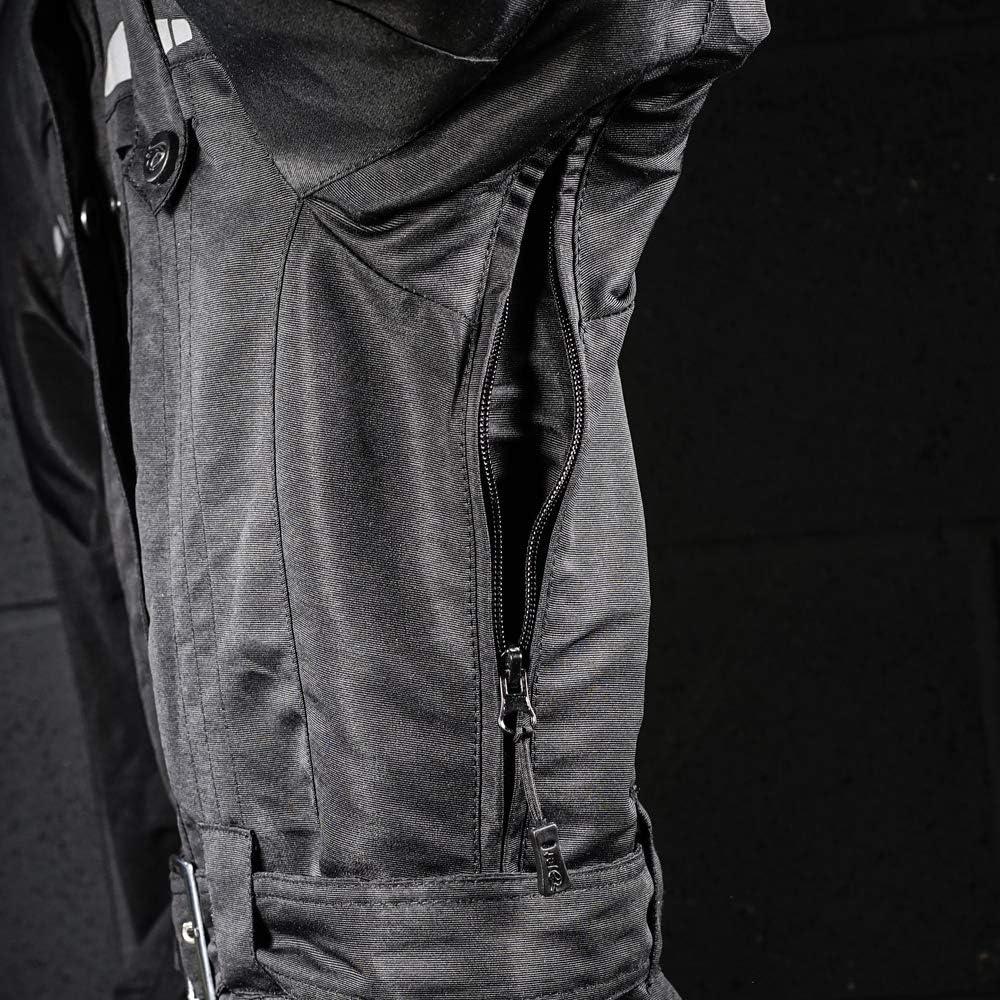IT 48 JET Giacche moto donna leggero con larmatura impermeabile TASLAN , Nero 2XL
