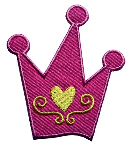 Amazon.com  Cute Beautiful Pink Princess Crown with Yellow Heart ... dcb693df2347