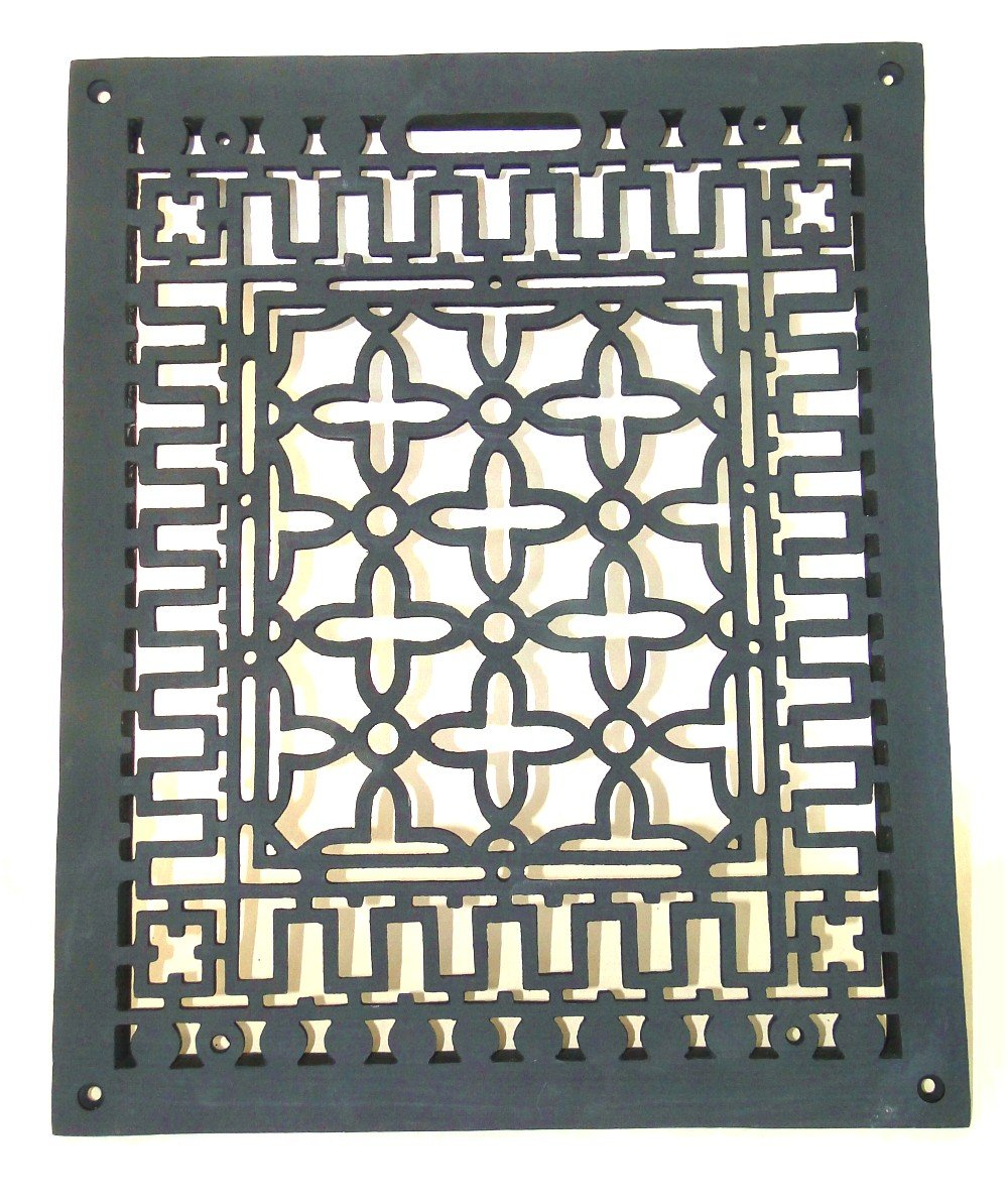 Vintage Old Style Rectangular Floor Grate Replica Medium Made of Solid Cast Iron The King's Bay