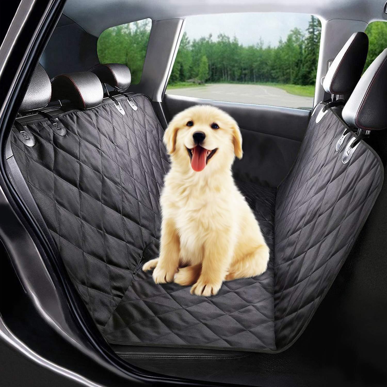 Eshen Funda de asiento para perro Cubiertas impermeables del asiento de carro del animal domé stico Perro Protector Hamaca Lavable, antideslizante, se adapta a todos los autos SUV de camiones, negro