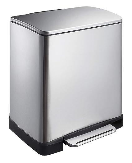 Amazon.com: EKO 926820 VB - Cubo de basura con pedal (acero ...