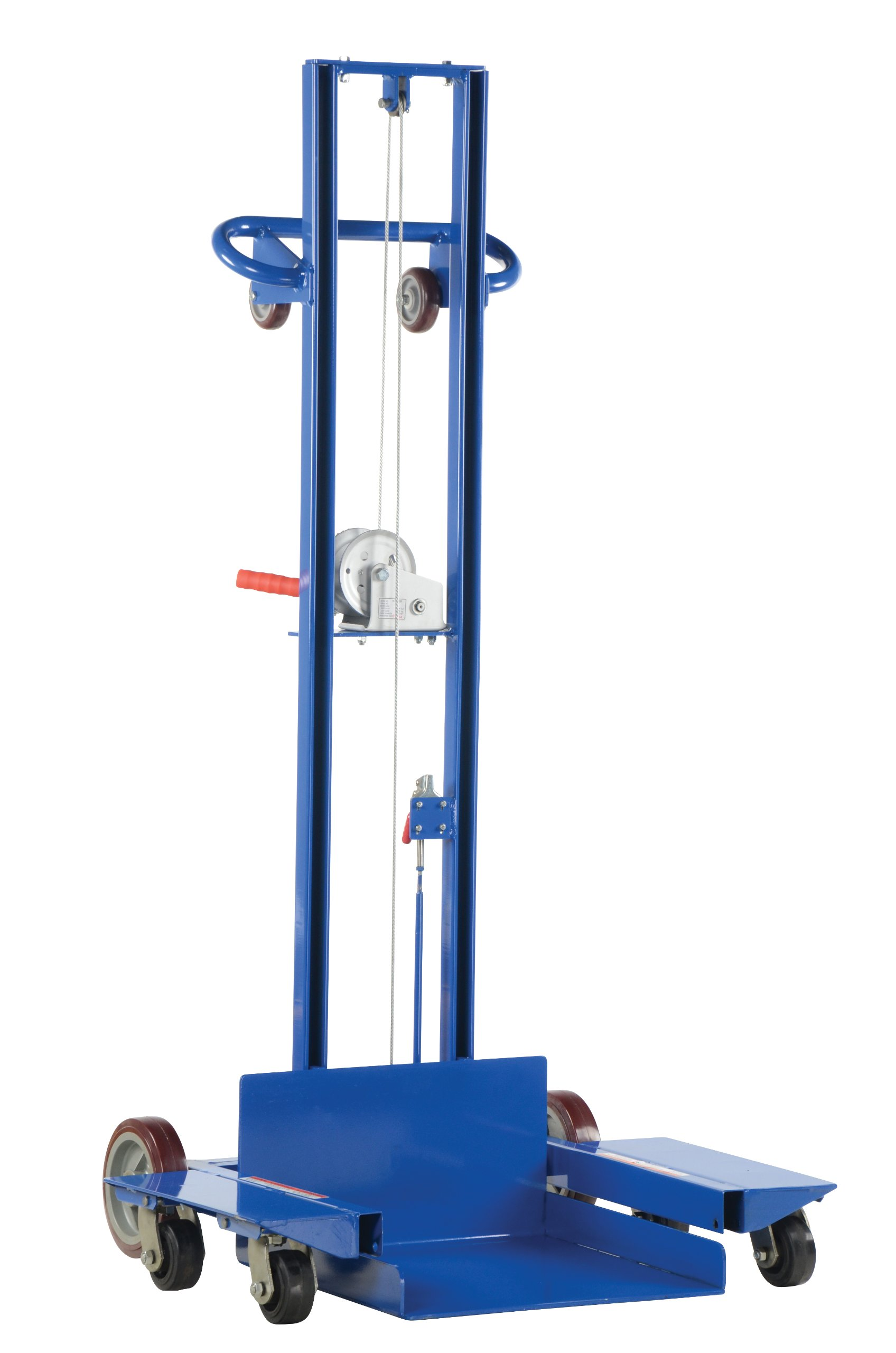 Vestil LLPW-500-4SFL Low Profile Lite Load Lift with Winch, Steel, 29-13/16'' Length, 37-7/16'' Width, 69-7/16'' Height, 500 lbs Capacity