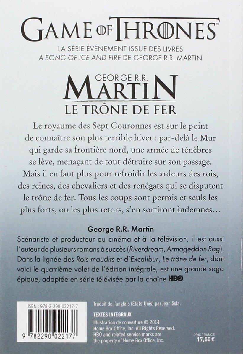 Le Trone De Fer L Integrale 4 Semi Poche French