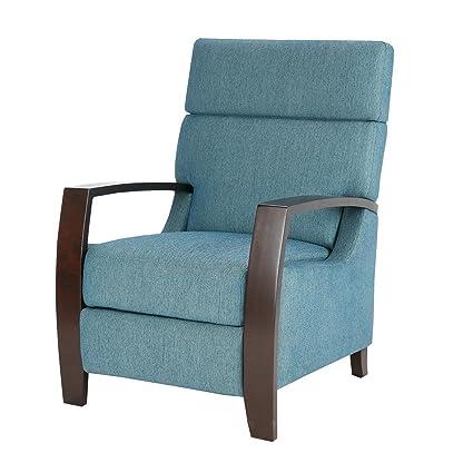 Stupendous Amazon Com Modhaus Living Mid Century Modern Wood Blue Ibusinesslaw Wood Chair Design Ideas Ibusinesslaworg