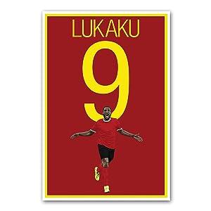 Romelu Lukaku Poster - Belgium Soccer Art