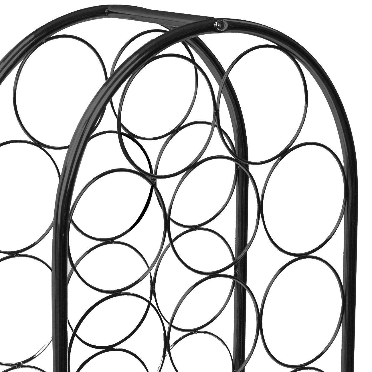Sorbus Wine Rack Stand Bordeaux Chateau Style - Holds 14 Bottles of Your Favorite Wine - Elegant Storage for Kitchen, Dining Room, Bar, or Wine Cellar (14 Bottle - Black) by Sorbus (Image #7)
