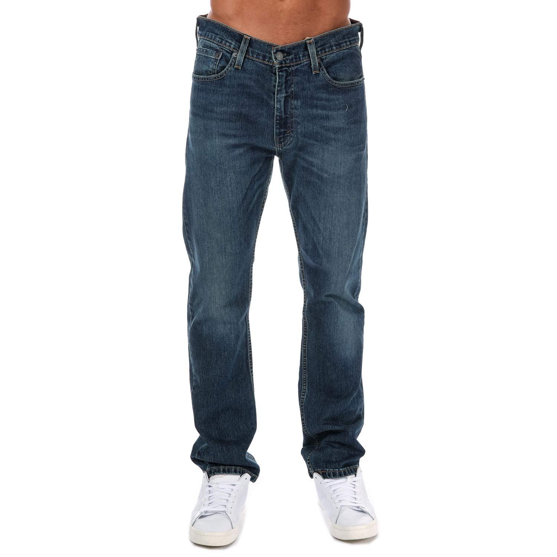 Levi's 513 jeans uomo Slim Straight stretch vita alta gamba dritta azzurro W33L32 08513-0800