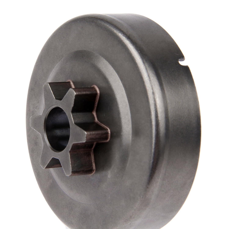 Tamburo frizione Pignone 3//8/6T Rondella e della clip per Stihl MS170/MS180/017/018/025