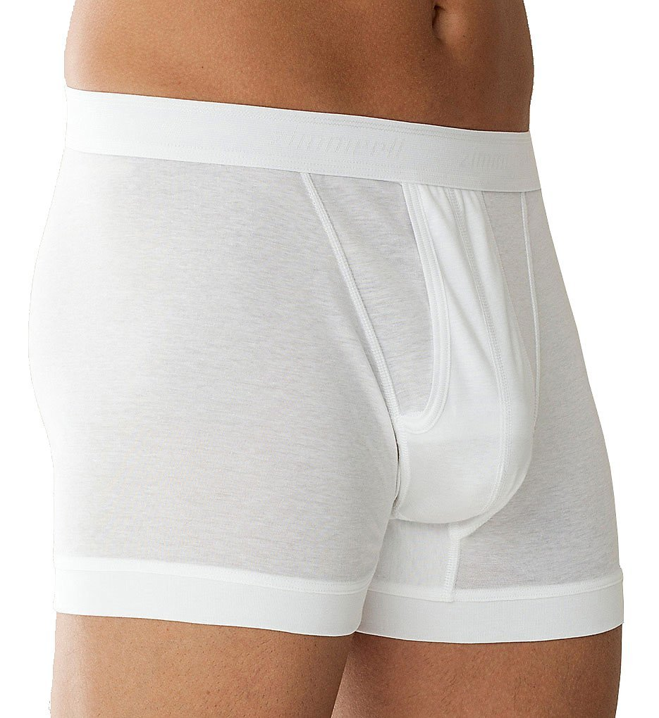 Zimmerli Business Class Open Fly Fashion Boxer 2XLarge/White
