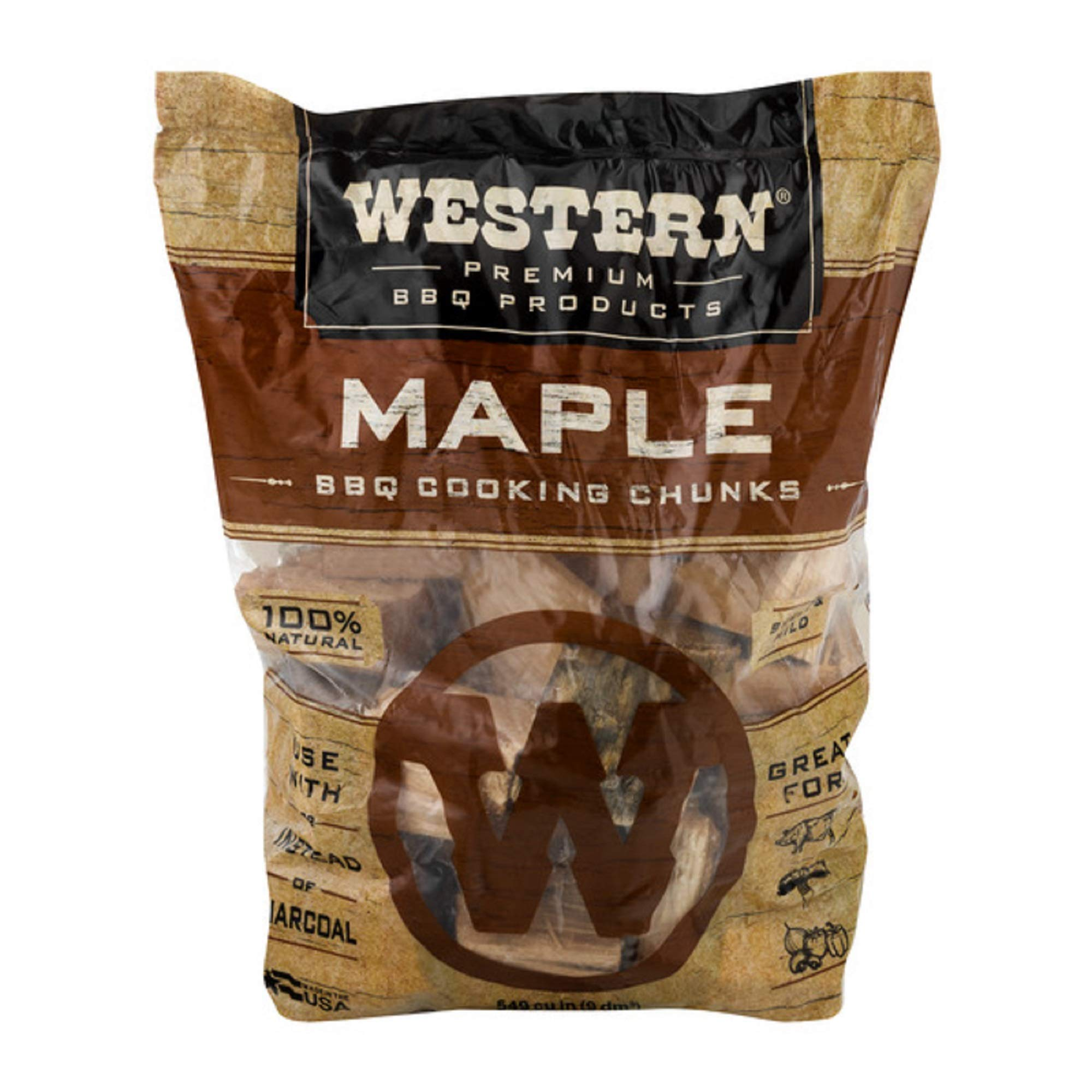 Western Premium BBQ Products Maple Cooking Chunks, 549 cu inch product image