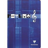 Clairefontaine 3137C Cahier piqué de musique/chant 96 pages Sieyès 90 g A4 Couleur Aléatoire