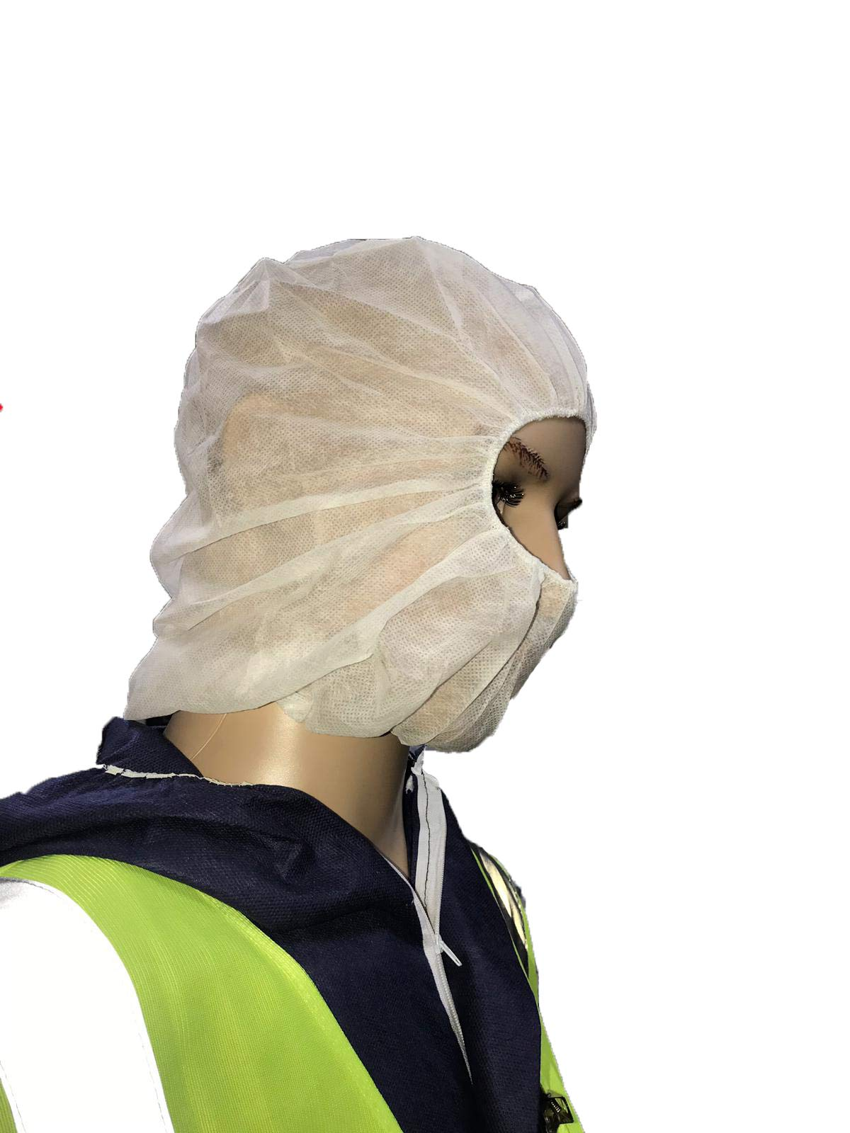 Shield Safety - 21'' - Disposable Personal Protection - Hood - White - 1000 Pieces = 1 MSTR by PackagingSuppliesByMail (Image #2)