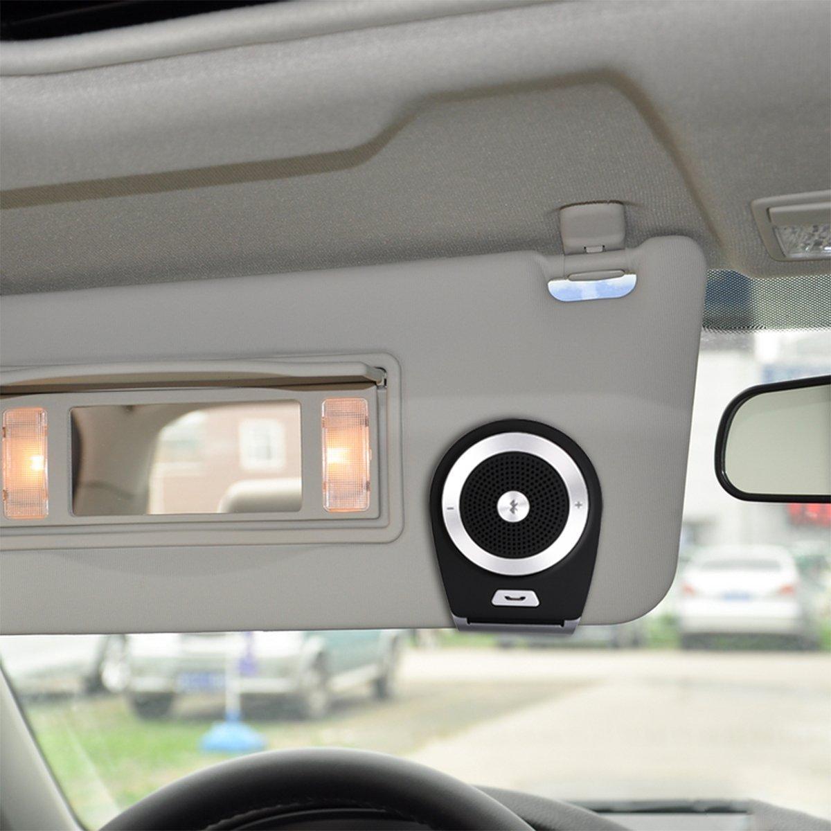 FDG Auto Freisprechtelefon drahtloses Bluetooth4.1Auto Freisprechtelefon f/ür die Sonnenblende