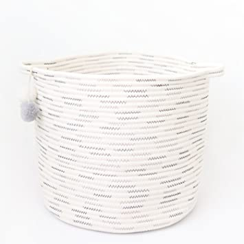 Laundry And Storage Cotton Rope Basket For Laundry, Toys, Baby Boys Or  Girls Room