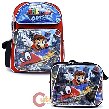 f53dff37d0 Super Mario Odyssey Large 16 quot  School Backpack with Lunch Bag