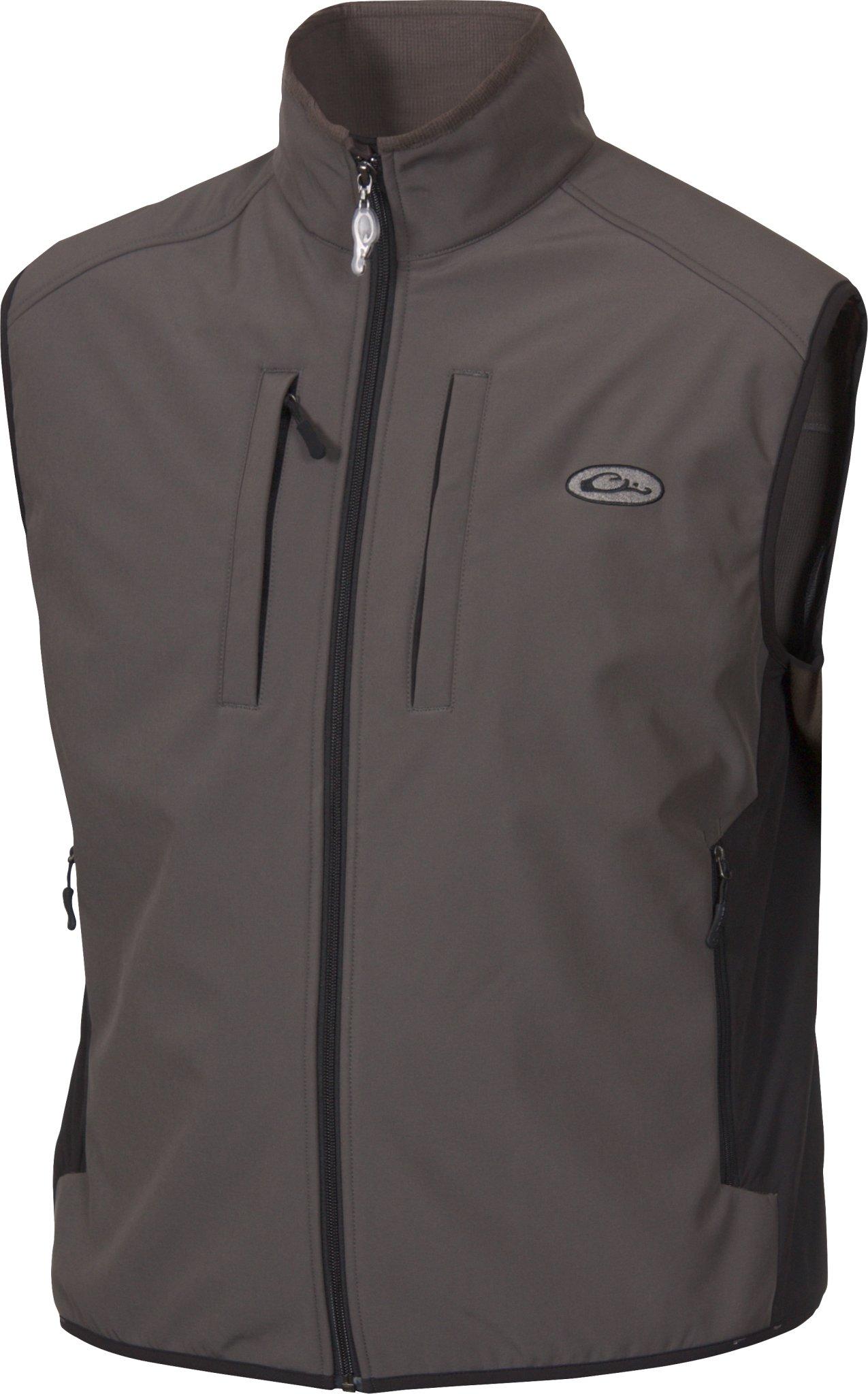 Drake Windproof Tech Gray Vest, Large by Drake