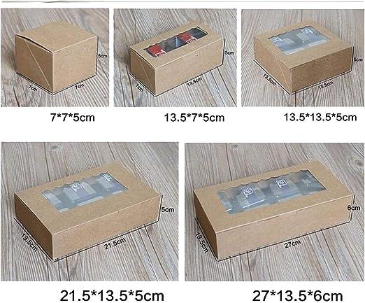Caja de cartón para manualidades con ventana de PVC para tartas ...