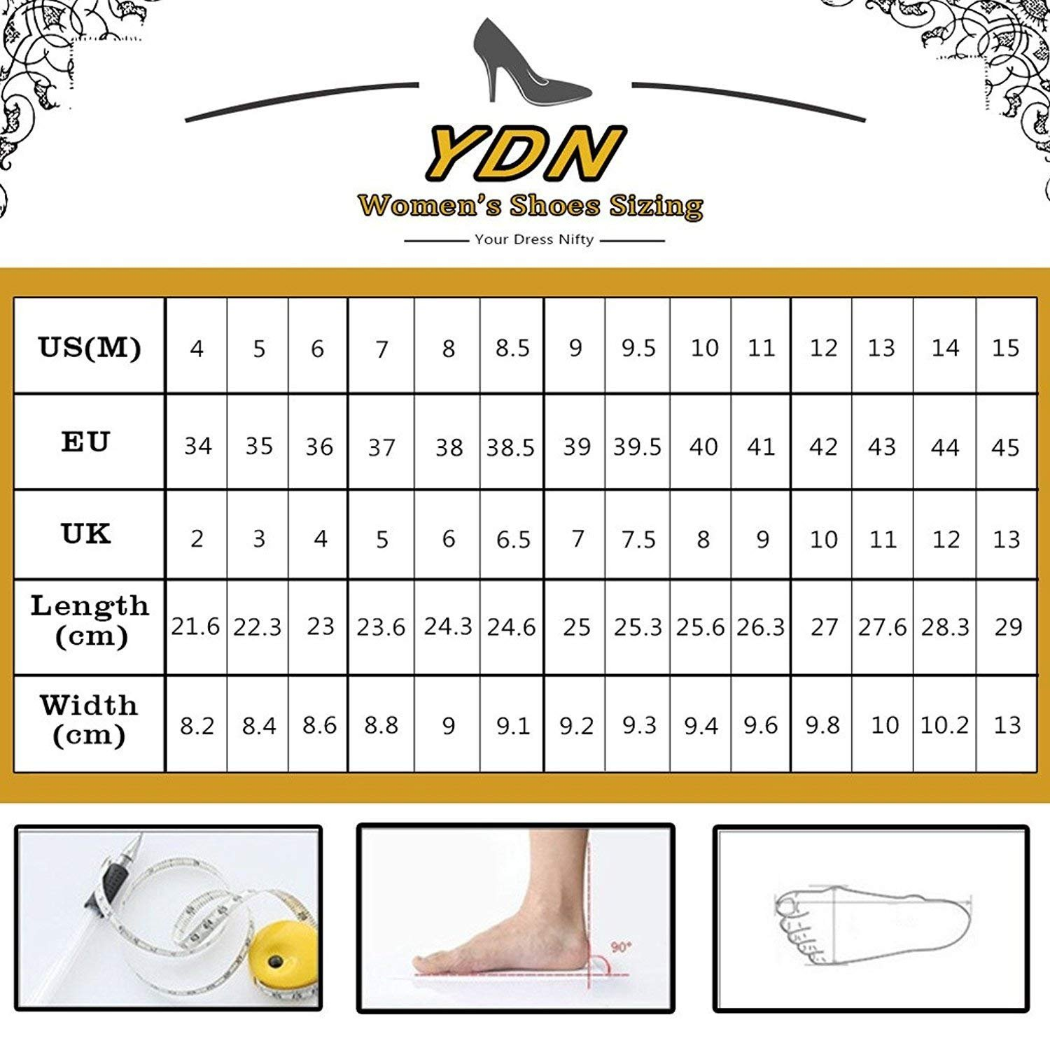 YDN Women Peep Toe Sky High Heels Platform Pumps Ankle Straps Shoes Metal Stilettos B07F1R7JV8 8 M US|Rossy-pu