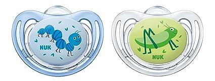 Chupete de silicona NUK Freestyle, forma que se adapta a la ...