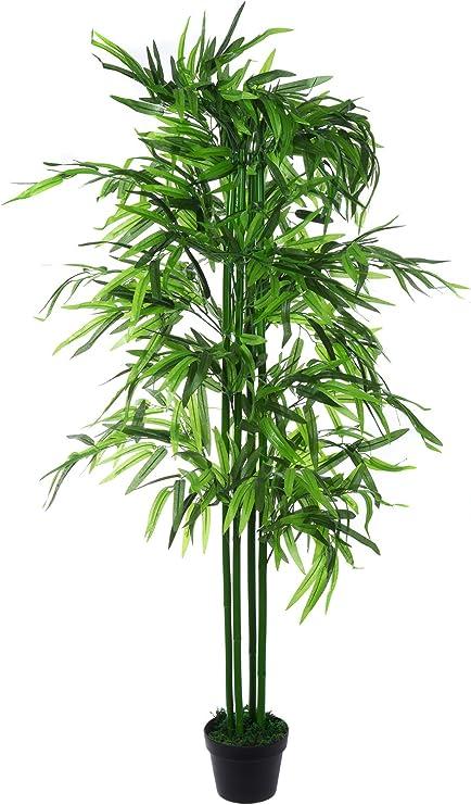 XXL Bamboo Bambú algodón jwt129 calcualdora Árbol de bambú 140 cm Alto, Planta Artificial, de flores, de algodón, habitaciones Planta Artificial: Amazon.es: Hogar