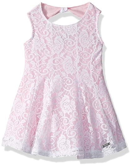 Dkny Girls Big Fashion Dress Flower Lace Pink Lady 12