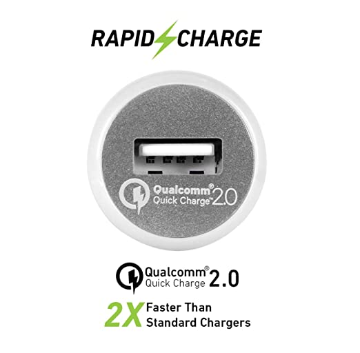 I-Tek Car Charger with Qualcomm Quick Charge 2 0 Rapid Charge Technology  (Space Grey)
