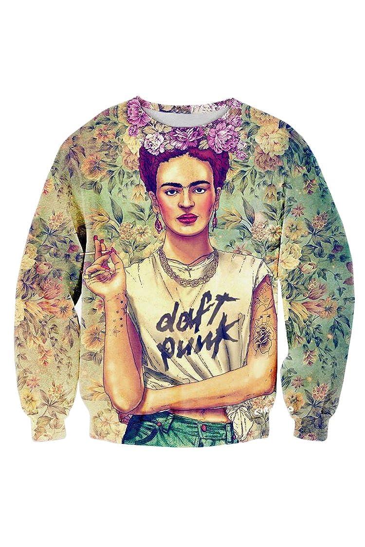 Cutiefox Digital Print Crew Neck Pullovers Sweater Sweatshirts CFPHD6822