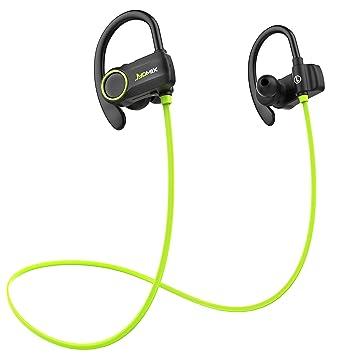 Auriculares Bluetooth inalámbricos, JYDMIX running Cascos con micrófono, Resistente al Agua IPX6, auricular