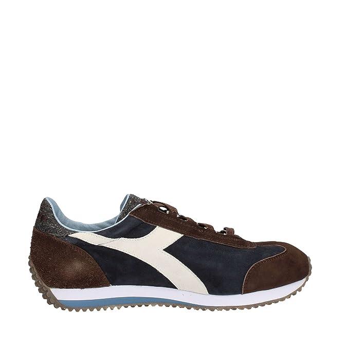 Diadora - Diadora Heritage Equipe Evo Ii Sneakers In Pelle Scamosciata - 632004 - 9,5, 60063 Blu Corsaro