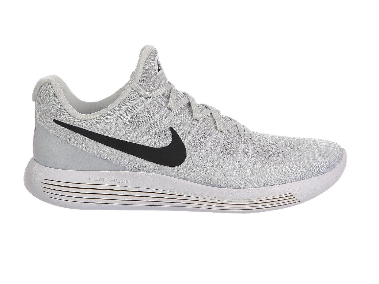 NIKE Men's LunarEpic Low Flyknit 2 Running Shoe B072JVZ7VT 8 D(M) US|White/Black-pure Platinum