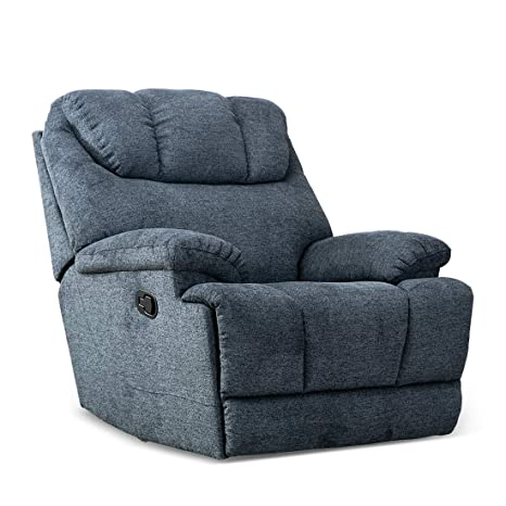 Stupendous Canmov Recliner Chair Microfiber Fabric Living Room Chair Manual Reclining Single Couch With Thickened Headrest And Back Blue Gmtry Best Dining Table And Chair Ideas Images Gmtryco