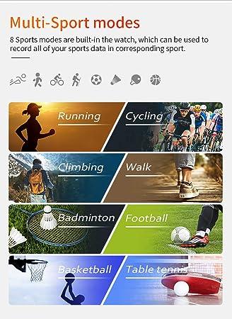 WETERS Fitness Tracker Actividad Tracker Reloj frecuencia cardíaca presión Arterial Monitor de Salud IP68 Brazalete Deportivo a Prueba de Agua(Negro): ...
