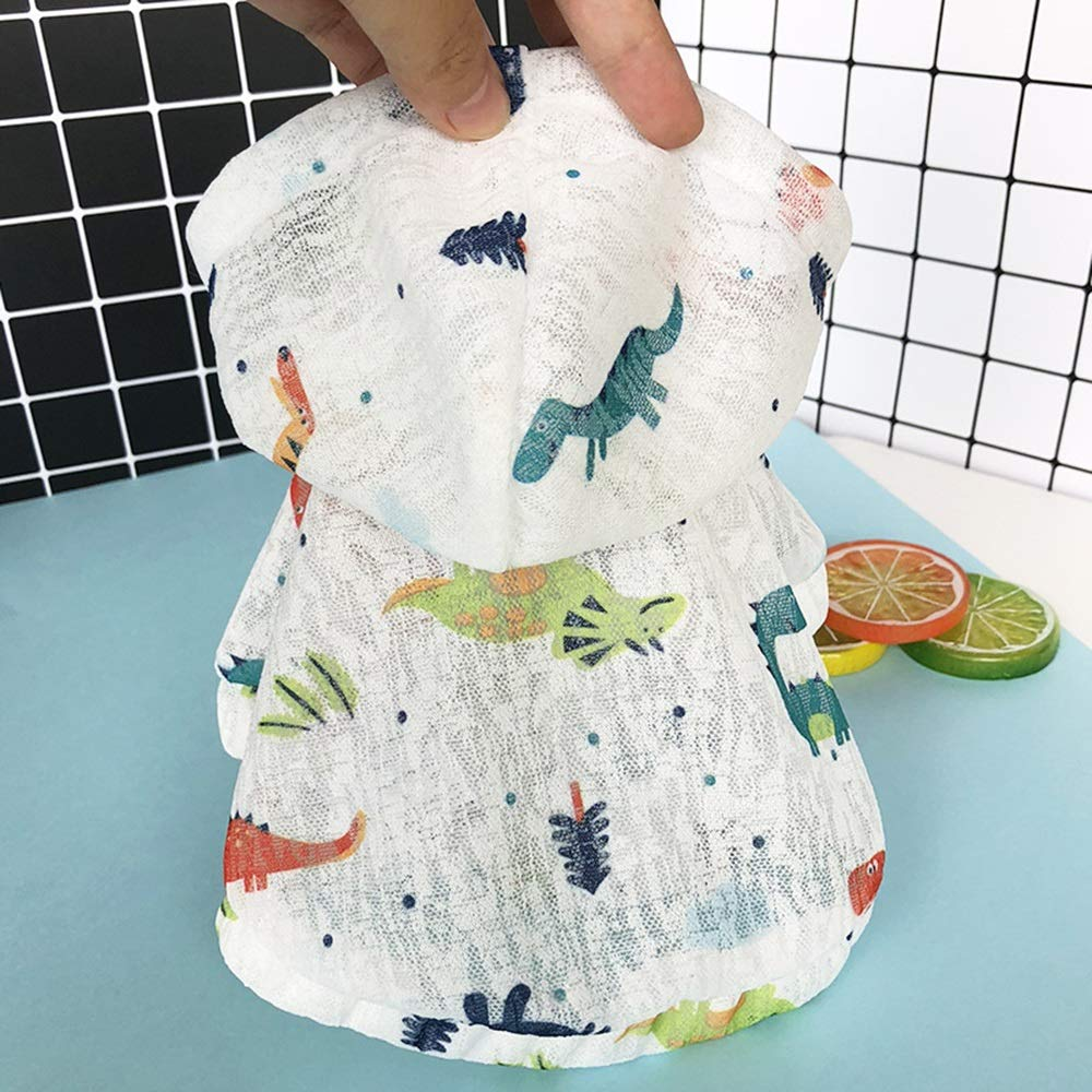 5 M 5 M Huayue Dog Clothes Fragile Section Hood Sun Predection Clothing Pet Modest Blouse Clothing Hooded T-Shirt (color   5, Size   M)