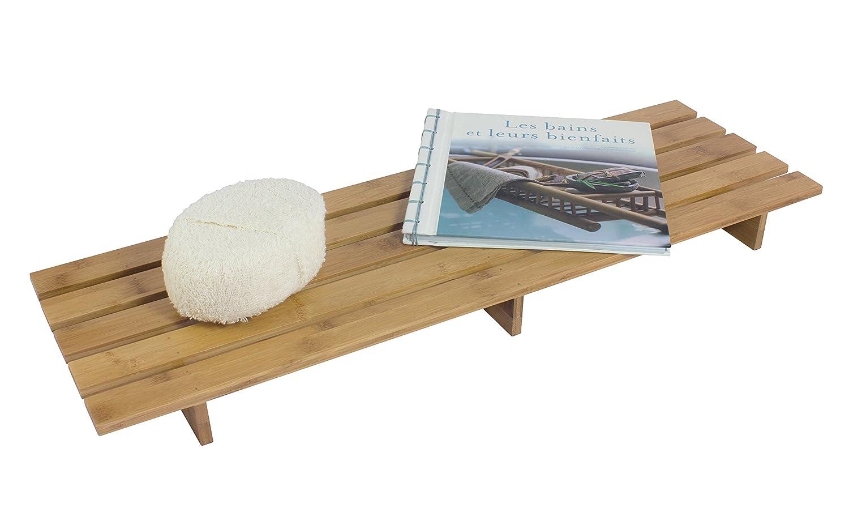 GELCO Design Line Pont DE Baignoire 70 x 20 x 5,5 cm Naturel Bambou