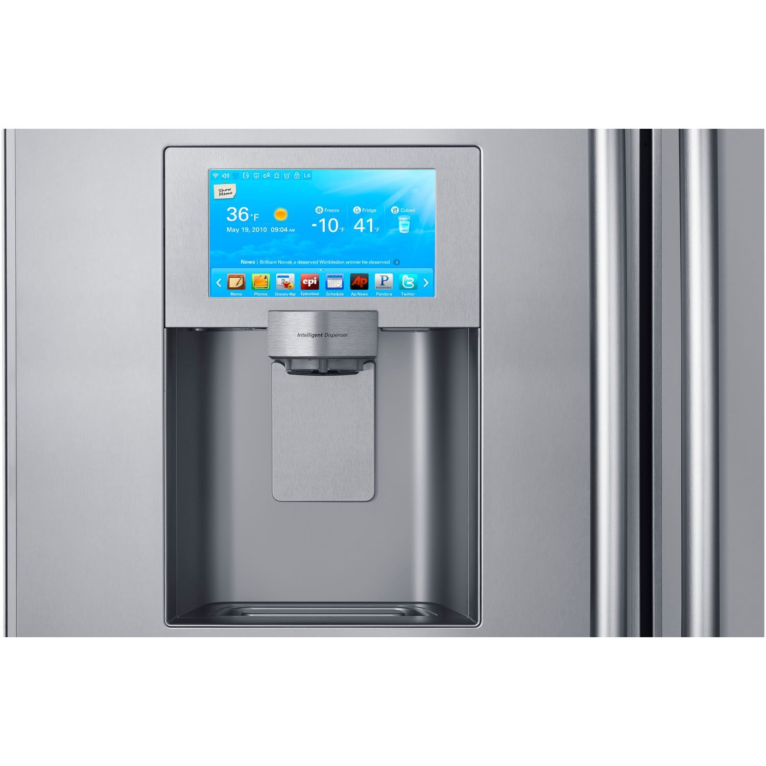 samsung refrigerator touch screen. amazon.com: samsung rs27fdbtnsr built-in side by refrigerator, 48-inch, stainless steel: appliances samsung refrigerator touch screen n