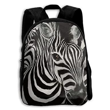 Toddler Backpack Zebra Drawing Kids School Bag