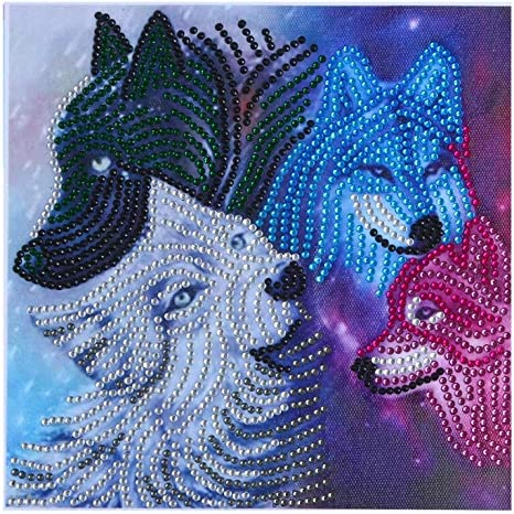 HAPPIShare DIY 5D Diamond Painting by Number Kit for Adult Full Drill Diamond Embroidery Dotz Kit Home Wall Deco